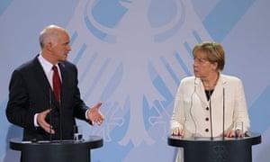 Merkel And Papandreou