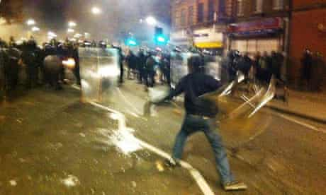 Protesters Riot In Tottenham in summer 2011