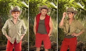 I'm a Celebrity contestants Stefanie Powers, Mark Wright and Lorraine Chase
