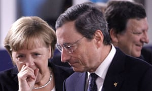 Angela Merkel and Mario Draghi, G20 Summit in Cannes