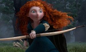 Merida, the feisty princess in Brave