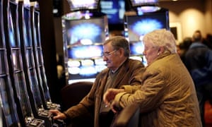 Slot machines at Aspers supercasino at Westfield Stratford City in east London
