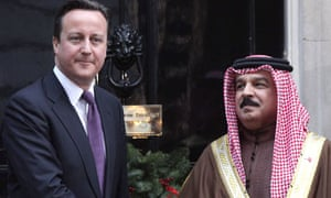 David Cameron and the King of Bahrain at number 10 Downing Street