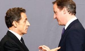 Nicolas Sarkozy and David Cameron