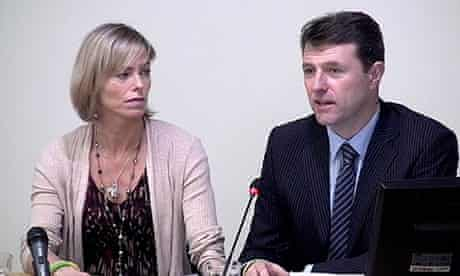 Gerry and Kate McCann Leveson Inquiry