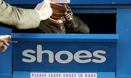 variety club shoe recycling bank