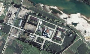 Space Imaging satellite image of Yongbyon Nuclear Site in North Korea