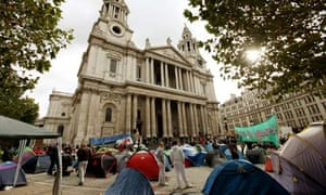 Occupy London protesters at St Paul's cathedral