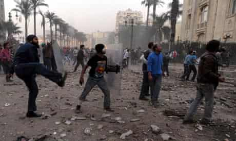 Protesters clash in Egypt