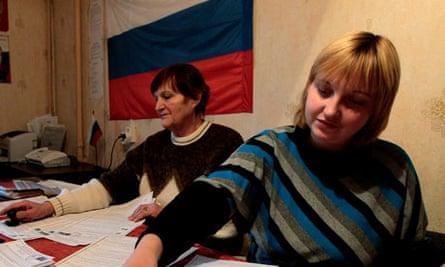 Russian electoral officials