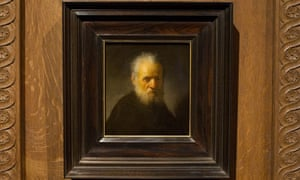 Old man with beard by Rembrandt