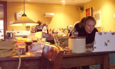 Jennifer Ehle, in her kitchen in upstate New York, 2008