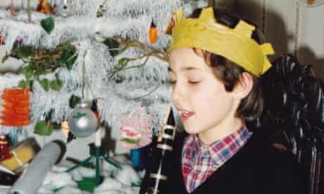 Alex Zane, aged 10, with his clarenet at Christmas.