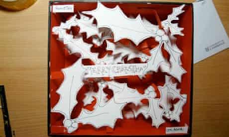 Patrick Kingsley's three-dimensional Christmas card