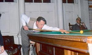 Arthur Morrison at his billiard table