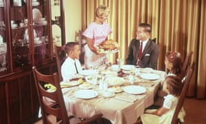 Family Having Thanksgiving Dinner At Table 1962