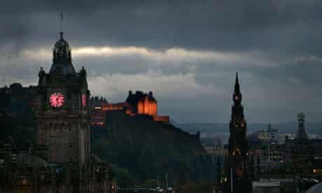 Grey skies over Edinburgh castle