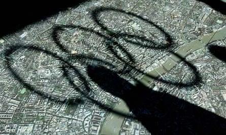 Olympic rings shadow