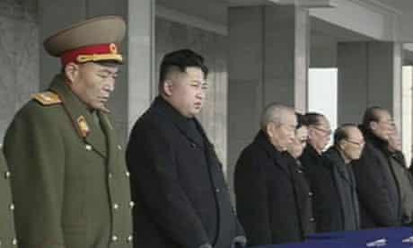 Kim Jong-un at memorial service