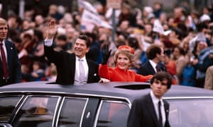 Smiling to victory: Ronald Reagan was a master at playing the optimism card.