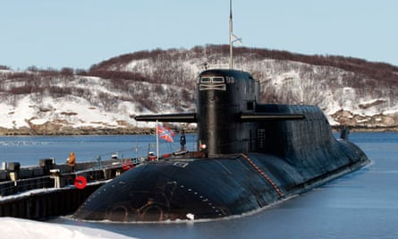 Nuclear submarine in Murmansk area of Russia