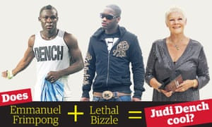 Emmanuel Frimpong, Lethal Bizzle and Judi Dench