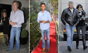Denim disasters: Jeremy Clarkson, Pat Sharpe and Adrian Chiles