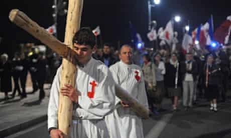 Protest against Golgota Picnic