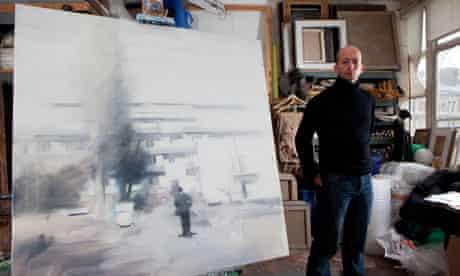James Hart Dyke in his studio