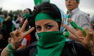 The green movement was a reaction to the 2009 election in Iran.