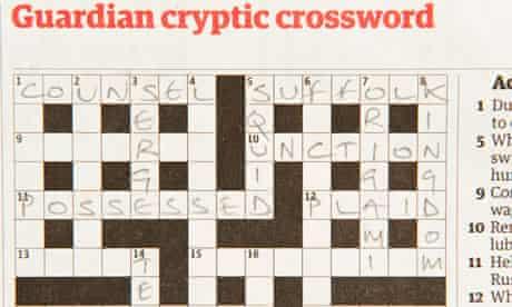 Guardian cryptic crossword.
