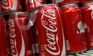 Cans of Coca Cola