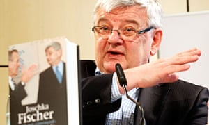 Joschka Fischer at the launch of his Iraq war memoir, I Am Not Convinced, in Berlin.