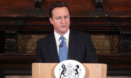 David Cameron speaks on welfare reform