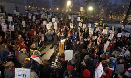 Wisconsin workers protest