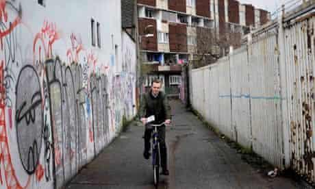 Dylan Haskins on the campaign trail in Portobello, Dublin