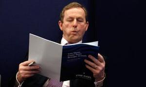 Fine Gael party leader Enda Kenny