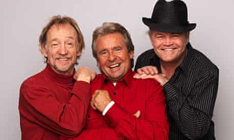 Peter Tork, Davey Jones and Micky Dolenz of The Monkees announce the band's 45th anniversary tour.