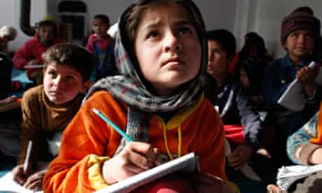 Afghanistan's Street Children at school