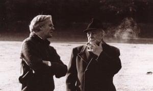 John le Carré and Alec Guinness