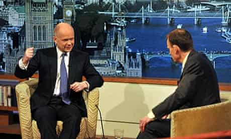William Hague appears on the Andrew Marr Show on BBC1.