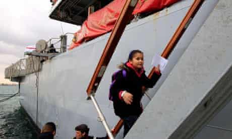 Girl boards HMS Cumberland