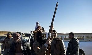 Anti-Gaddafi rebels in Nalut, western Lybia.
