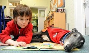 Dogs listening to children