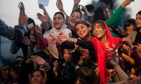 Women attend a concert in Mazar-i-Sharif, Afghanistan