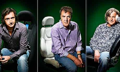 Top Gear presenters (from l) Richard Hammond, Jeremy Clarkson and James May