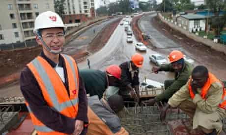 Chinese civil engineer in Nairobi