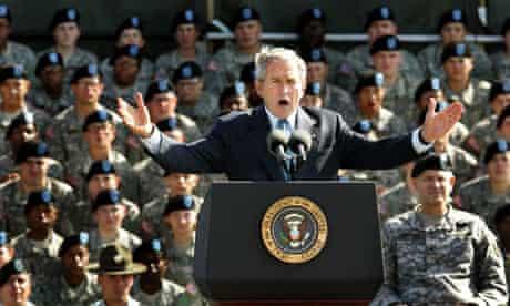 President George W. Bush speaks at a Basic Combat Training g