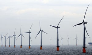 Thanet offshore windfarm off the coast of Ramsgate in Kent – the largest of its type in the world