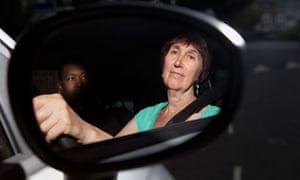 Michele Hanson at the wheel